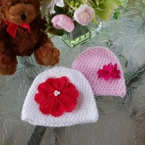 Other - Handmade baby hat set of 2.